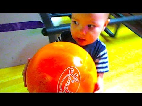 Baby with Bowling ball