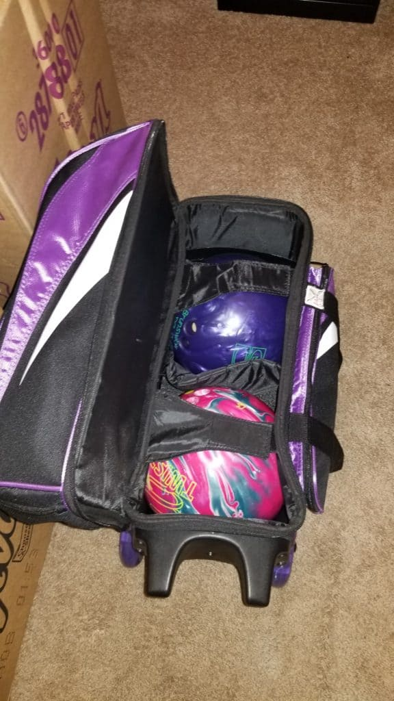 New and old bowling balls
